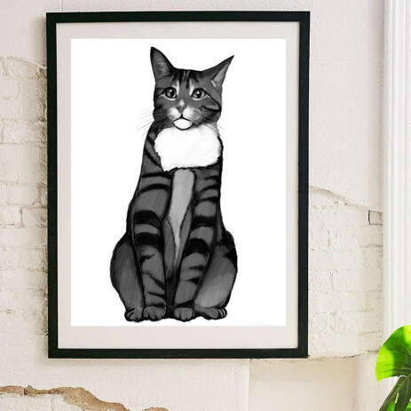 Cat Portrait from Photos on Poster - example
