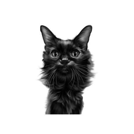 Digital Realistic Pussycat Personalized Caricature Painting from Photos - example