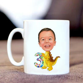 Birthday Children Caricature on Mug