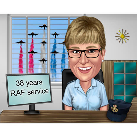 Office Worker Caricature in Color Digital Style from Photos - example
