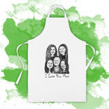 Custom Kitchen Apron: Personalized Group Cartoon Printed on Apron