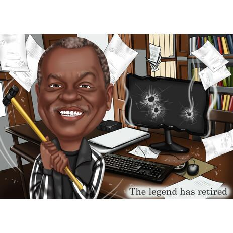 Legend Retirement Caricature van Photos - example