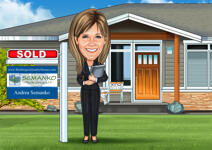 Realtor Caricature example 4