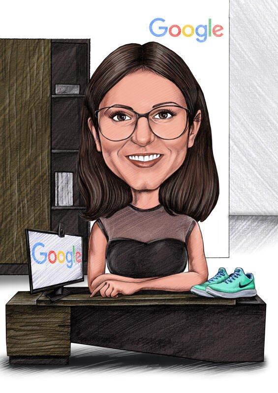 business caricature poster