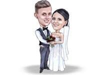 結婚式の風刺画 example 19