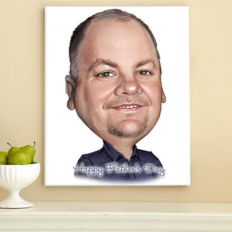 Canvas Print of Happy Father