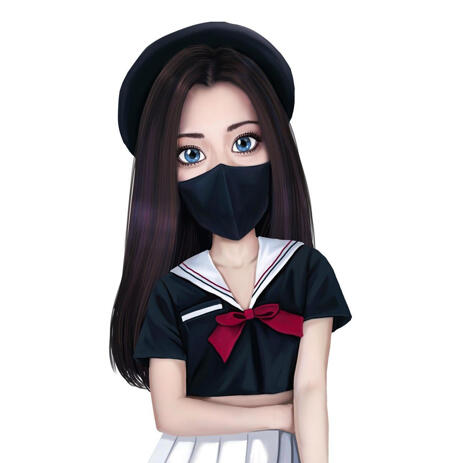 Custom Anime Cartoon from Photos: Personalized Anime Drawing - example