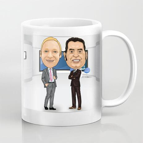 Colleagues Caricature on Mug - example