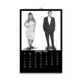 Work Team Caricature on Calendar