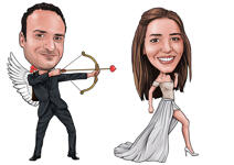 Wedding Caricature Poster example 5