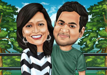 Couple Caricatures example 17