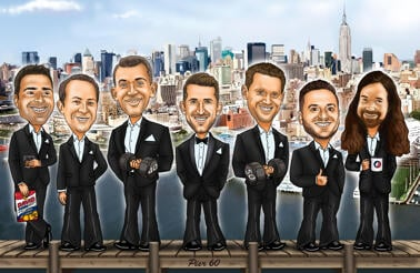 Personalized Groomsmen Caricature from Photos