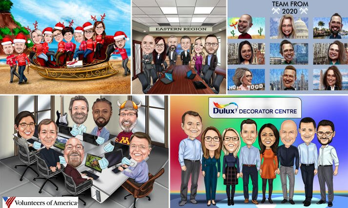Company Caricature large example