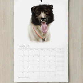 Dog Portrait from Photos on Calendars
