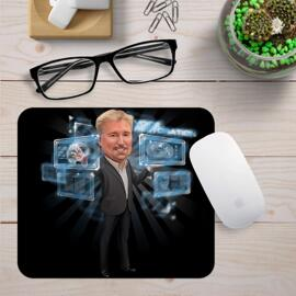 Business Caricature Mouse Pads