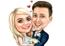 Wedding Caricature Poster example 9