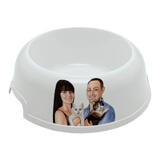 Family with Pets Caricature as Pet Bowl