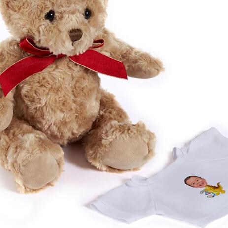 Birthday Children Caricature on Teddy Bear - example