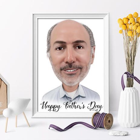 Photo Print: Father's Day Caricature Drawing upon Request - example