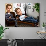 Custom Caricature for Business on Canvas