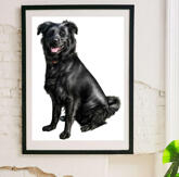 Dog Caricature Printed on Poster