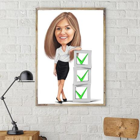 Employee Caricature on poster - example