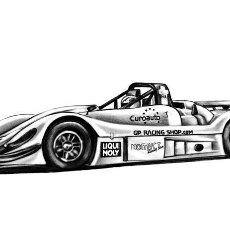 Schizzo dell'automobile che disegna nelle matite - example