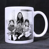 Family with Kids Caricature as Mug