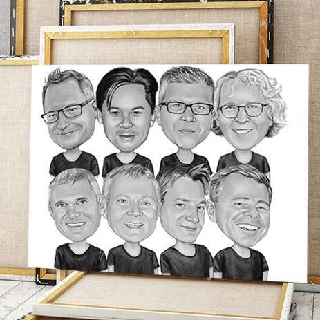 Business Logo Caricature on Canvas - example