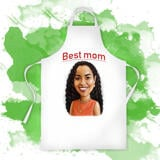 Print on Apron: Personalized Mother's Day Gift with Funny Cartoon Drawing