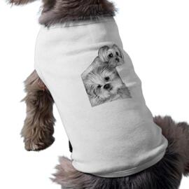 Dogs Caricature Drawing on Pet Shirt