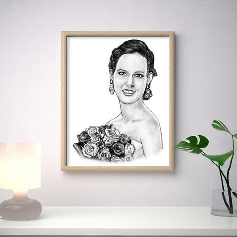 Bride Portrait from Photos on Poster - example