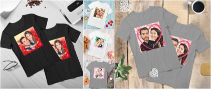 Matchende karikatur t-shirts