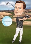 Caricatura da golf example 22