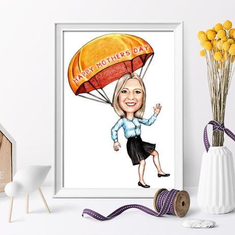 Caricature imprimée sur papier photo: crayons personnalisés dessin dans un style de crayons de couleur - example