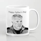 Print on Photo Mugs: Custom Portrait Drawing from Photo on Father's Day