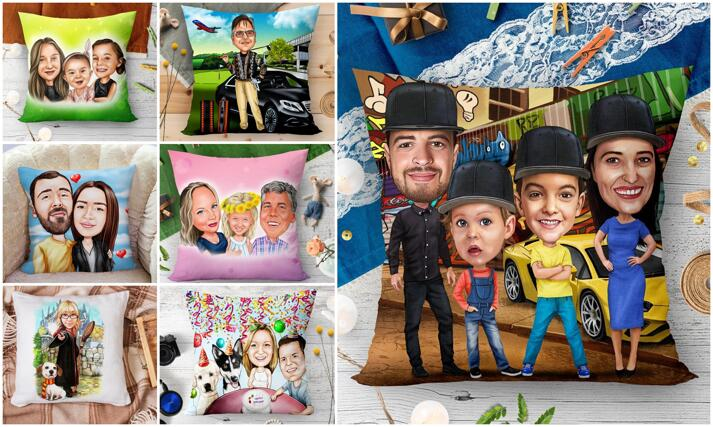 Caricature Cushion large example