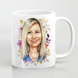 Photo Mug on Mother's Day: Personalized Cartoon Drawing from Photo