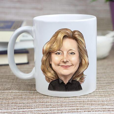 Cofee mug with Corporate Caricature - example