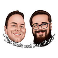 Two Person Podcast Caricature Logo Avatar Hand Drawn from Photos