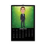 Office Caricature on Calendar