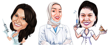 Sygeplejerskekarikatur