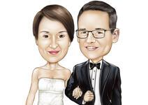 Bruiloft karikaturen example 10