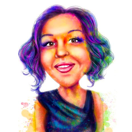 Watercolor Rainbow Portrait from Photos - example