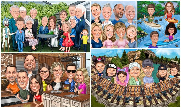Group Caricature large example