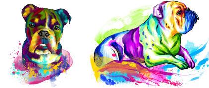Bulldogs Caricature Portrait