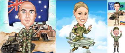 Military Caricatures