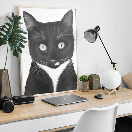 Cat Portrait from Photos - Print on Poster - example