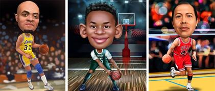 Basketball Caricatures