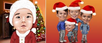 Christmas Kid Caricature